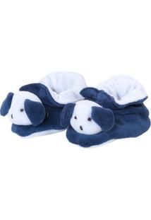 Pantufa Dog- Azul Marinho & Branca- 3X5X10Cm- Bibiramar