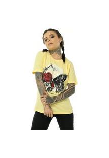 Camiseta Bossa Brasil Moon Amarelo