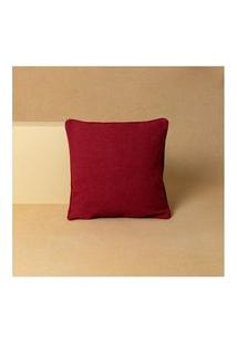 Capa De Almofada Lisa Doha 45X45 Cor: Vermelho - Tamanho: Único