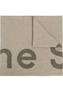 Acne Studios Cachecol Toronty Com Logo - Verde