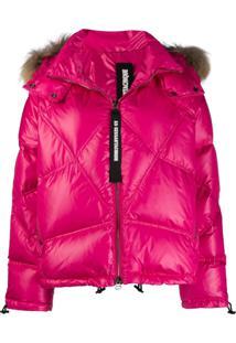 As65 Fur Hooded Jacket - Rosa