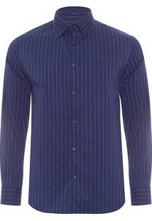 Camisa Masculina Listrada Urban - Azul