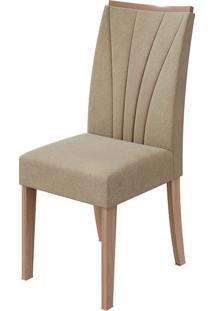 Cadeira Apogeu Veludo Naturale Creme Carvalho Naturale