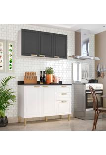 Cozinha Compacta Nevada Vi 5 Pt 3 Gv Branca E Grafite