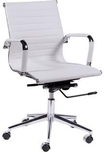 Cadeira De Escritório Diretor Eames Esteirinha I Branca