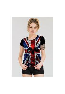Camiseta Stompy Estampada Feminina Modelo 52 Preta