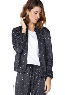 Jaqueta De Malha Estampada