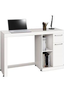 Mesa Para Computador Office Doris Branco Edn Móveis