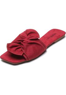 Rasteira Dafiti Shoes Nó Rosa