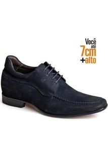 Sapato Social Couro Nobuck Rafarillo Masculino Leve Conforto - Masculino-Marinho