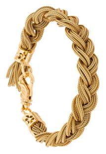 Emanuele Bicocchi Bracelete De Ouro Trançado - Metálico