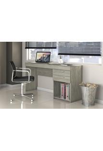 Mesa Office Notável 51015 02 Gavetas Carvalho