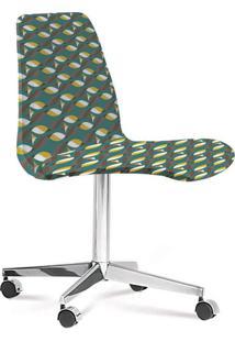 Cadeira Cromada Eames Loft Verde