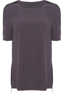 Camiseta Feminina Marina - Cinza