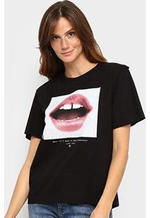 Camiseta Forum Básica Boca Feminina - Feminino