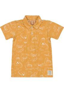 Camisa Infantil Estampada Amarelo