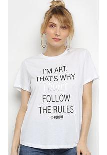 Camiseta Forum Frases Feminina - Feminino-Branco