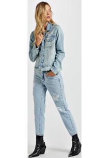 Jaqueta Jeans Liu Laser Animale Jeans Medio