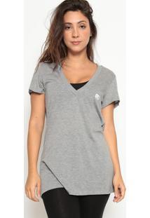 Camiseta Mescla- Cinza & Branca- Bain Hotelbain Hotel