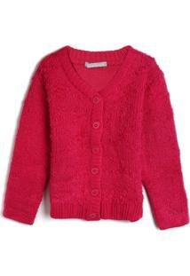 Casaco Hering Kids Infantil Liso Pink