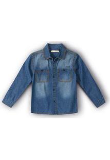 Camisa Tigor T. Tigre Azul Menino Camisa Tigor T. Tigre Azul Bebê Menino