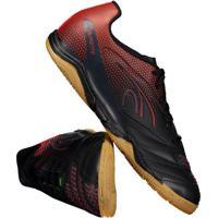 aec3260fd7 Chuteira Dalponte Twister Futsal Preta E Vermelha