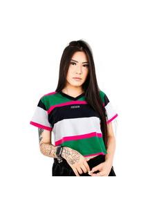 Camiseta Cropped Prison Feminina Retro Channels