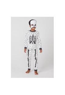 Pijama Infantil Menino Longo Caveira Divertida