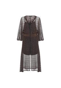 Vestido Renda Com Zíper - Preto