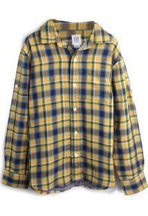 Camisa Gap Menino Xadrez Amarela