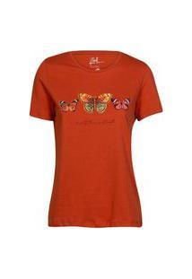 Camiseta Feminina Borboletas Terra