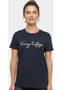 Camiseta Tommy Hilfiger Heritage Crew Neck Grafic Tee Feminino - Feminino