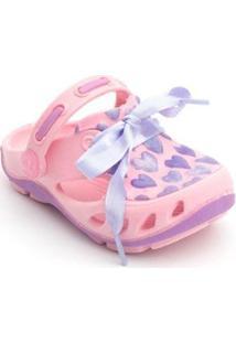Babuche Bebê Mocs Corações Plugt Feminino - Feminino-Rosa