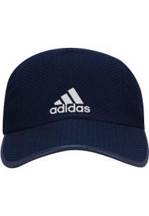 Boné Aba Curva Adidas R96 Run Climacool - Strapback - Adulto - Azul Esc  Branco 462f716734baf