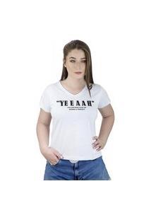Camiseta Feminina Yeeaah Branco - La Cerise - Bz0025-Br