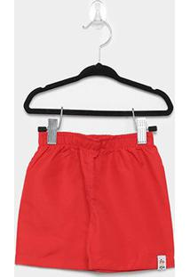 Bermuda Infantil Zig Zig Zaa Comfort Masculina - Masculino-Vermelho