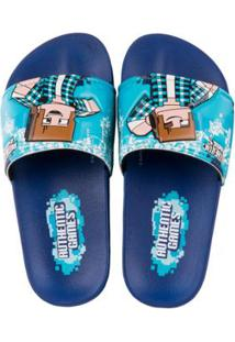 Chinelo Infantil Grendene Kids Authentic Games Sport Masculino - Masculino-Azul