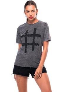 Camiseta Estonada Hashtag Liverpool Feminina - Feminino