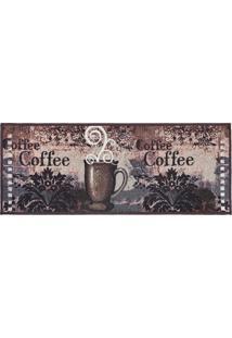 Passadeira De Cozinha Jacquard 45Cm X 1,15M Coffee - Tessi