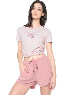 Camiseta Hurley Send Tubes Rosa