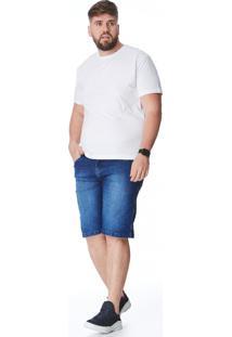 Bermuda Jeans Zait Tradicional Cadu Azul Marinho