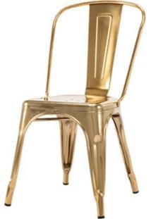 Cadeira Iron Espelhada Dourado - 50077 Sun House