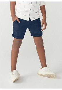 Bermuda Infantil Menino Chino Em Tecido De Algodão