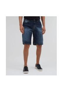 Bermuda Reta Em Jeans   Marfinno   Azul   38