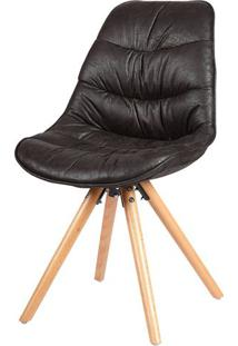 Cadeira Eames Foam Pu Preto Base Madeira - 37955 - Sun House