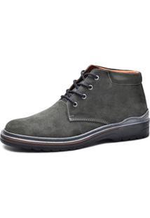 Bota Worker Over Boots Couro Camurça Cinza Urban