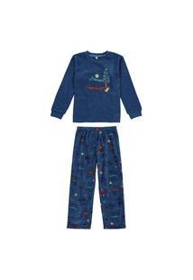 Pijama Microsoft Infantil Menino Inverno Animais Malwee Liberta