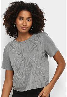 Camiseta Triton Básica Com Aplicação Feminina - Feminino