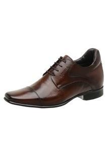 Sapato Rafarillo Linha Alth Você + Alto 7Cm Mogno 53003 Mogno