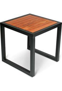 Mesa Lateral Togo Para Área Externa Tampo Deck Peroba Rosa Demolição Estrutura Alumínio Eco Friendly Design Scaburi